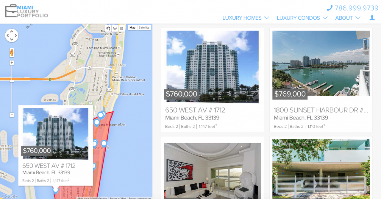 Map Search Miami Luxury Portfolio